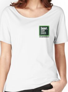 Support Don't Punish (small logo) Women's Relaxed Fit T-Shirt