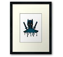 Blue Ninja Framed Print