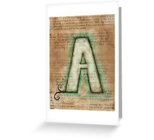 The Letter A - Watercolor Greeting Card