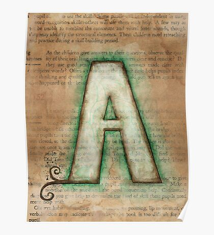 The Letter A - Watercolor Poster