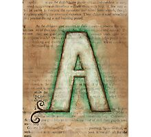 The Letter A - Watercolor Photographic Print