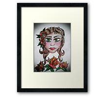 Gypsy Tattoo _ Roses Framed Print