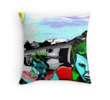 Vulture and the Superhero Throw Pillow