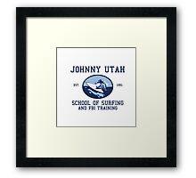 Point Break Movie Johnny Utah FBI  Framed Print