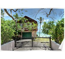 Ocean View Property in Nassau, The Bahamas Poster