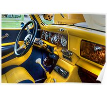HDR - Yellow and Blue Interior Poster