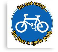 Cycle Path Canvas Print