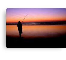 Fishing on Fraser Island Canvas Print