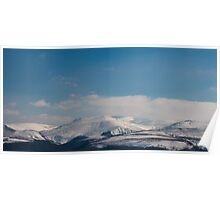 Whale shaped Mountains Poster