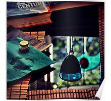 Brancott Sauvignon Blanc Semillon in blue glass Poster