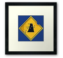 Dalek Crossing Framed Print
