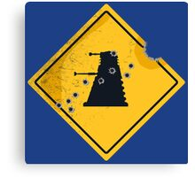 Dalek Crossing Canvas Print