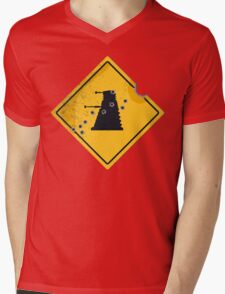 Dalek Crossing Mens V-Neck T-Shirt