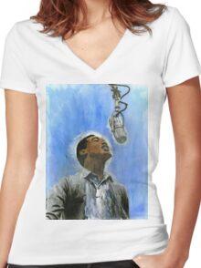 Sam Cooke Women's Fitted V-Neck T-Shirt