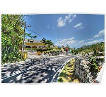 Johnson Road in Nassau, The Bahamas Poster