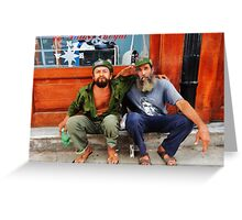 Che and Fidel  Greeting Card