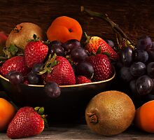 Panorama Fruit Still Life by Jerry Deutsch