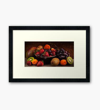 Panorama Fruit Still Life Framed Print