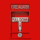 Pull Down Emergency Red Fire Alarm - iphone 5, iphone 4 4s, iPhone 3Gs, iPod Touch 4g case by pointsalestore Corps