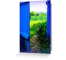 The Blue Gate is Open to the Golden Field Greeting Card