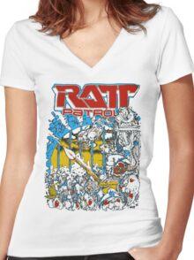 RATT PATROL Women's Fitted V-Neck T-Shirt