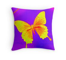 butterfly photograph from London Throw Pillow