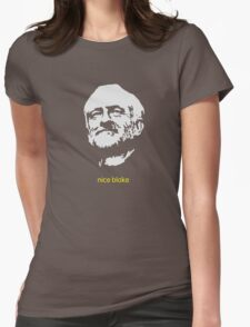 Jeremy Corbyn 'nice bloke' Womens Fitted T-Shirt