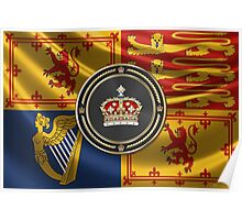 Crown of Scotland over Royal Standard  Poster