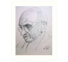 Mahatma Gandhi - portrait Art Print