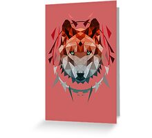 wolf red Greeting Card