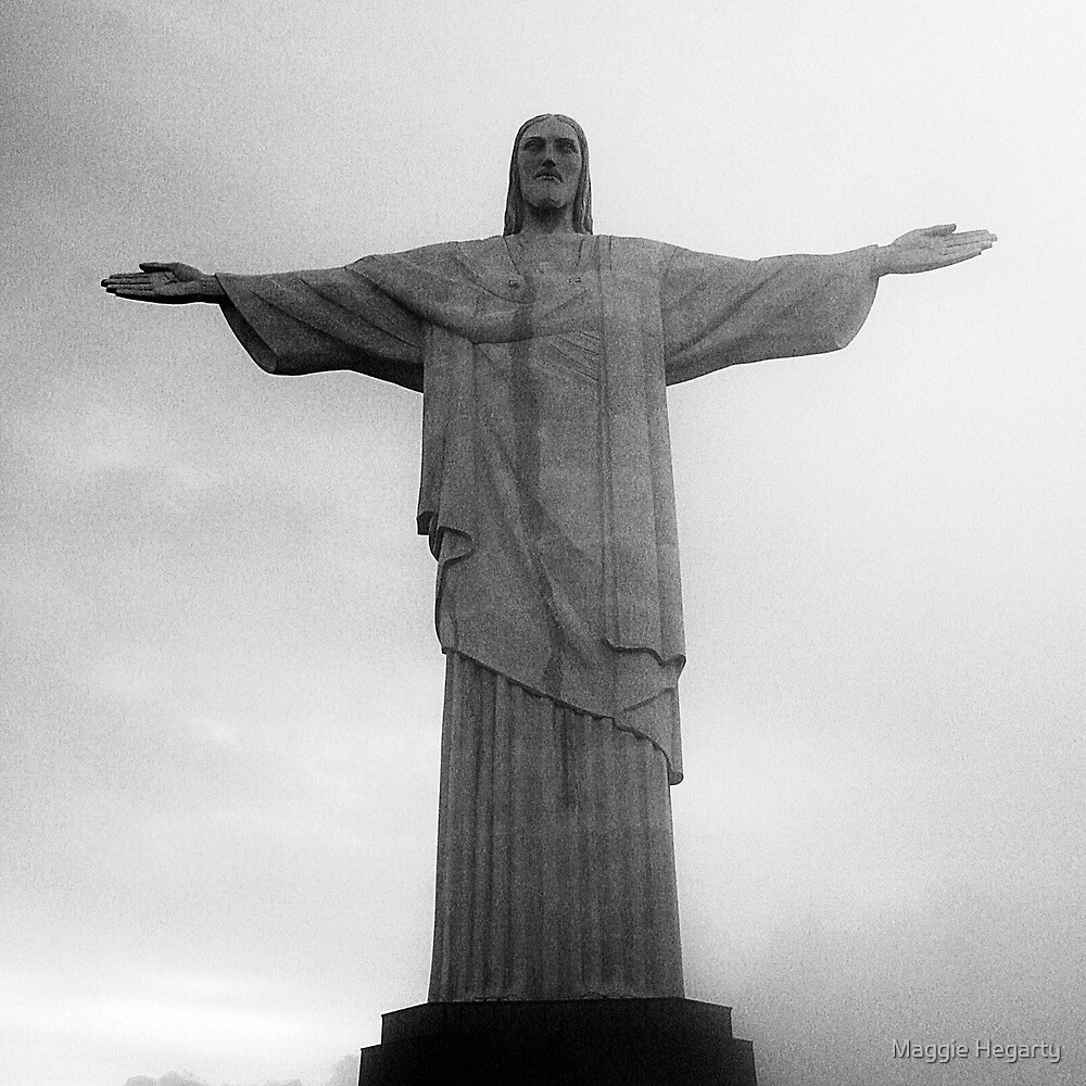 Cristo Redentor in rainclouds by Maggie Hegarty