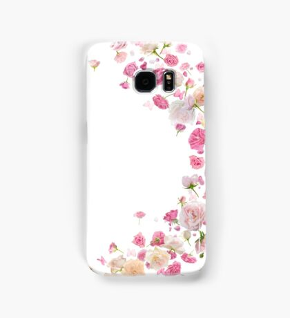Pink Roses and Butterflies Breeze Samsung Galaxy Case/Skin