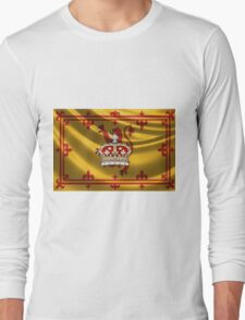 Crown of Scotland over Lion Rampant of Scotland Long Sleeve T-Shirt