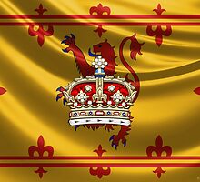 Crown of Scotland over Lion Rampant of Scotland by Serge Averbukh