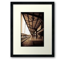 Old Railway Of Indonesia Framed Print