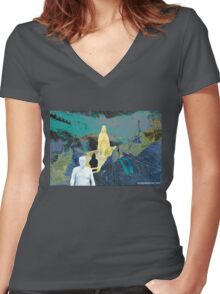 Fa La La La La Women's Fitted V-Neck T-Shirt