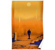 yellow morn. train station Poster