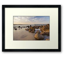 Dampier beach Framed Print