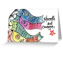 Koinobori: Strength and Courage Greeting Card