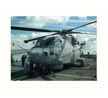 Royal Navy Merlin HM1 Art Print