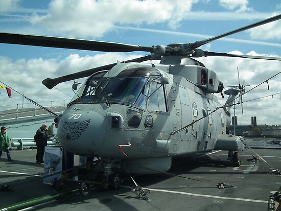 Royal Navy Merlin HM1 by mike  jordan.