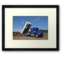 BIG BOYS TOYS - TIPPER Framed Print