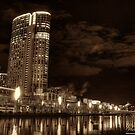 Along The Banks Of The Yarra River - Crown Casino (Sepia) by djzontheball