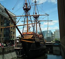 The Golden Hind ( replica ) by mike  jordan.