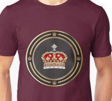 Crown of Scotland over Red Velvet Unisex T-Shirt