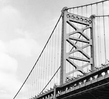 Benjamin Franklin Bridge, Philadelphia by jipvankuijk