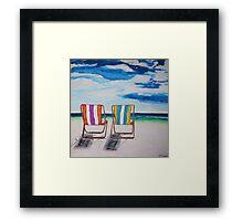 Beach Chair Delight Framed Print