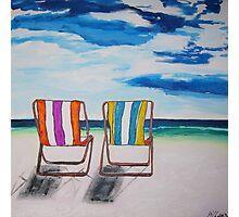 Beach Chair Delight Photographic Print