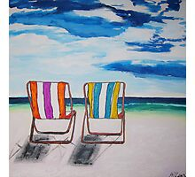 Beach Chair Delight Photographic Print