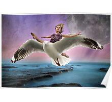 Oceanic Joy Flight Poster